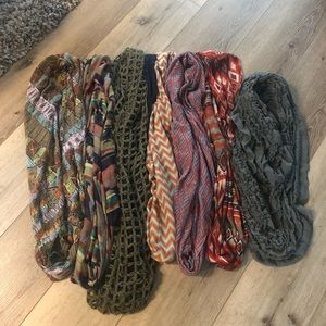 Fall scarves.  7 total.  $25.00 takes all.